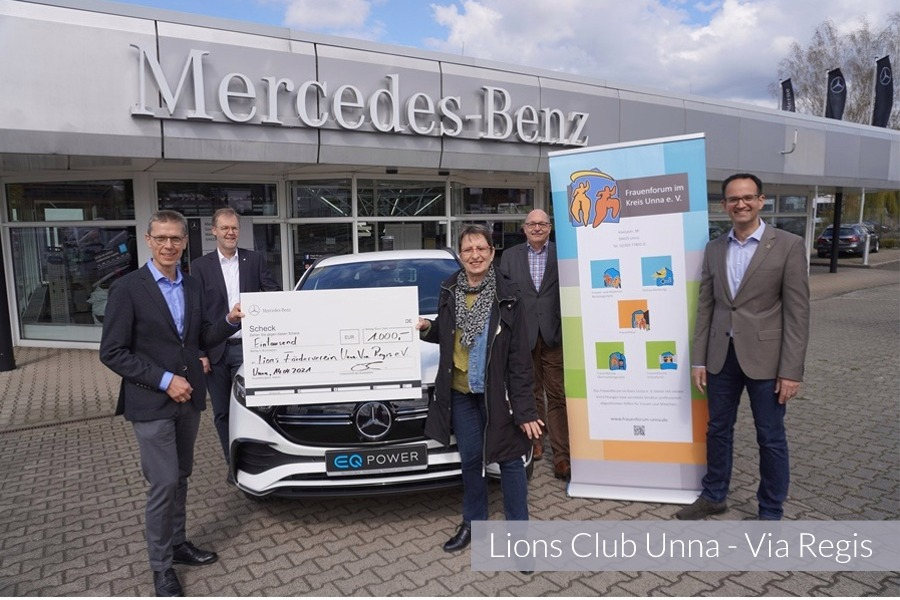 Spendenübergabe Lions